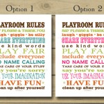 New Printable Playroom Rules Sign