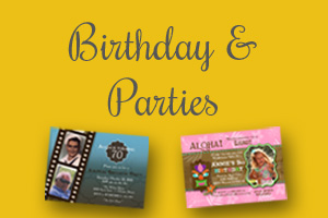 Birthdays & Party Invitations