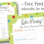 The Party Planning Checklist – freebie to subscribers