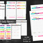 Happy 2015 Daily Planner Printable PDF Calendar