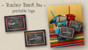 Teacher Appreciation Gift Tags & Bonus Bus Driver Tag