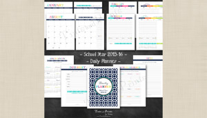 Back to School…School Year 2015-16 Daily Planner